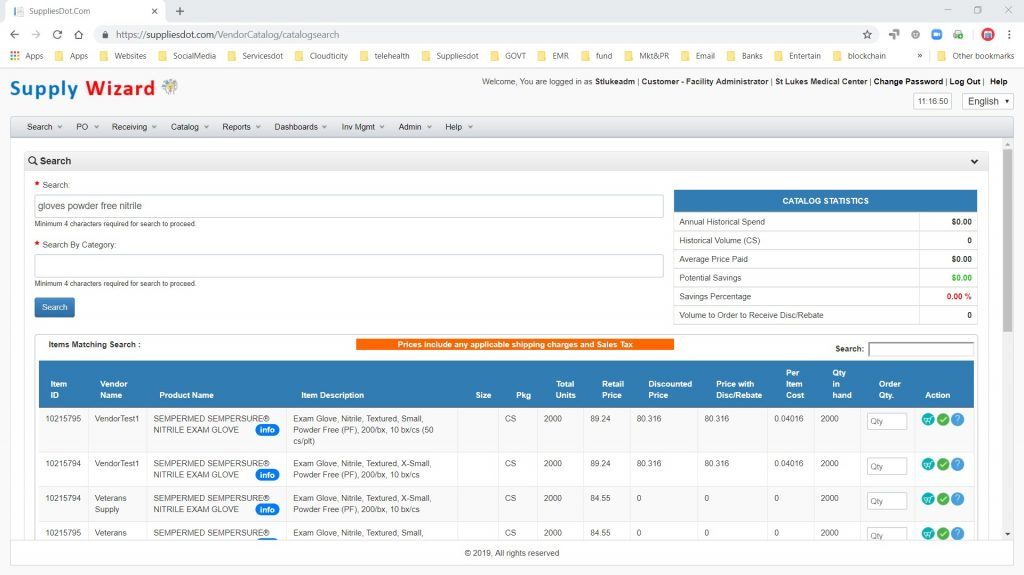 Supply Wizard Analysis Tool automatically finds supply savings using your historical purchasing history